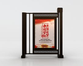 青海伸缩广告门